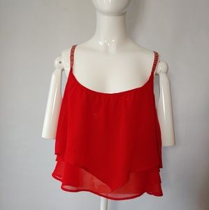 Cropped Flowy Tank Size Small